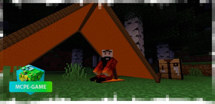 Definitive Campfire - Tents mod in MCPE