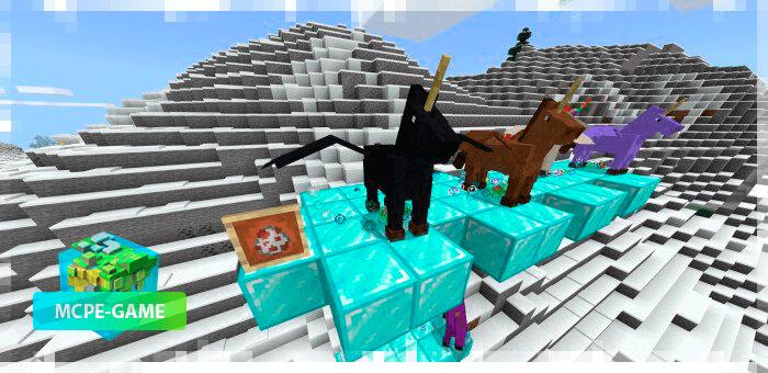 Пегасы из мода Unicorns and Butterflies для Майнкрафт ПЕ
