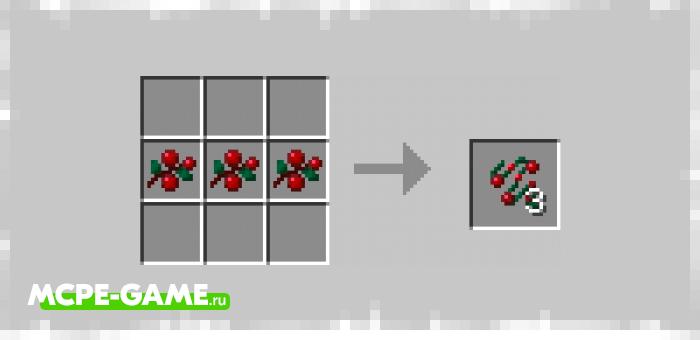 Рецепт крафта украшений для новогодней елки из мода Vanilla Holiday для Minecraft PE