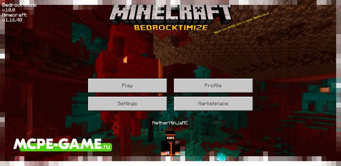 Изменение интерфейса Майнкрафт ПЕ с модом Bedrocktimize
