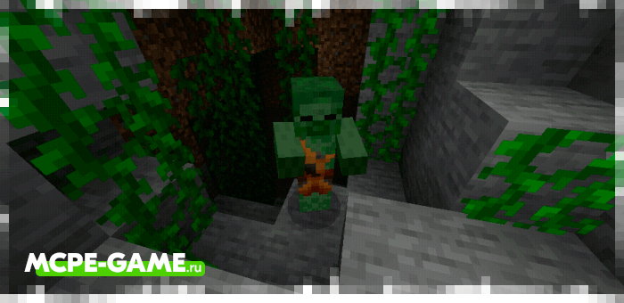 Zombie savages from the Caveman Buddy caveman mod in Minecraft