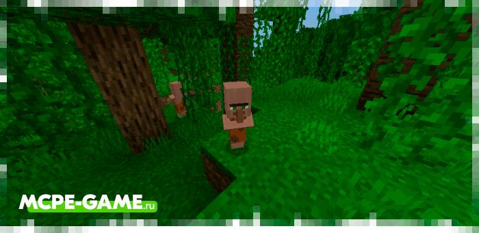 Savage kids from the Caveman Buddy caveman mod in Minecraft