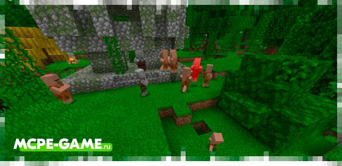Tribal Warfare from the Caveman Buddy mod in Minecraft