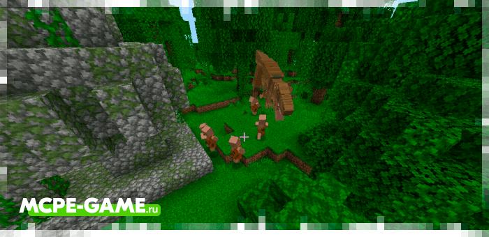 Dinosaur Hunt from the Caveman Buddy caveman mod in Minecraft