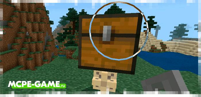 Взаимодействие с сундуком-питомцем из мода Electrical Chest на Minecraft PE