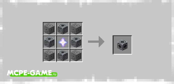 Рецепт крафта омнипортера из мода Ender Elevators для Minecraft PE