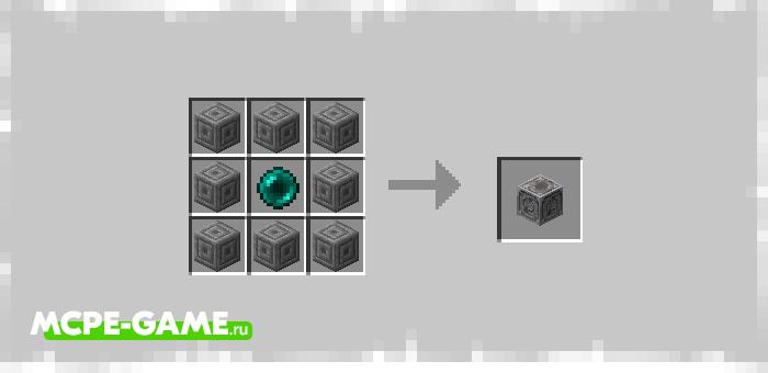 Рецепт крафта омегапортера из мода Ender Elevators для Minecraft PE