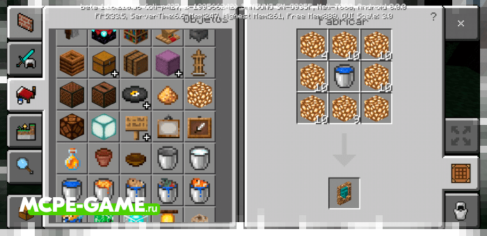 Рецепт крафта портала в верхний мир в Майнкрафт из мода Ethercraft
