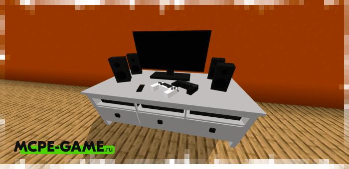 Тумба с ТВ из мода на мебель для гостиной комнаты Furniture Pack: Living Room