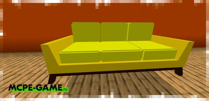 Диван из мода на мебель для гостиной комнаты Furniture Pack: Living Room