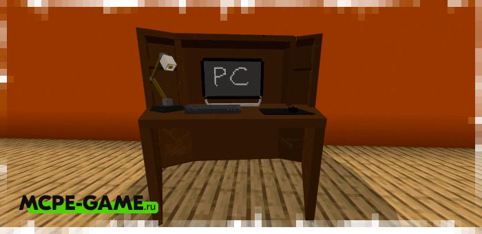 Компьютерный стол из мода на мебель для гостиной комнаты Furniture Pack: Living Room