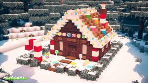 Видео-урок: Постройка новогоднего дома в Майнкрафт ПЕ