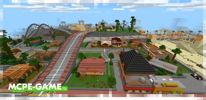 GTA San Andreas - World Map from GTA San Andreas for Minecraft