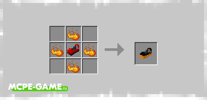 Рецепт крафта турбо версии вездехода из мода Hovercraft на Майнкрафт