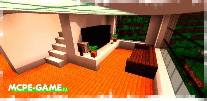 Современный пентхаус из мода Instant Houses на Minecraft