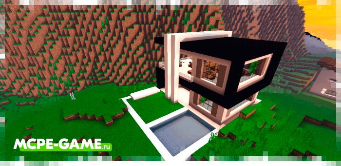 Небольшой особняк из мода Instant Houses на Minecraft