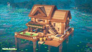 Видео-урок по постройке дома на озере в Майнкрафт