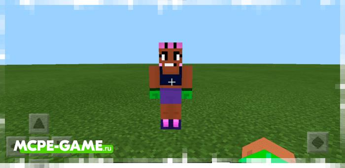 Rose from the Brawl Stars mod on Minecraft PE