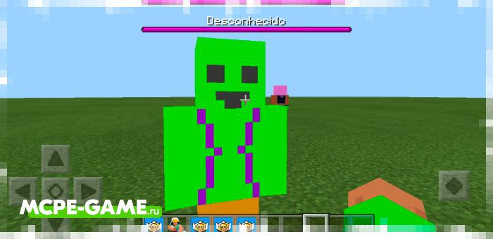 Spike from the Brawl Stars mod on Minecraft PE