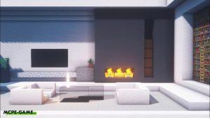 Видео-урок по созданию современной гостиной комнаты в Майнкрафт