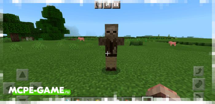 Пещерный зомби из мода More Zombies в Майнкрафт