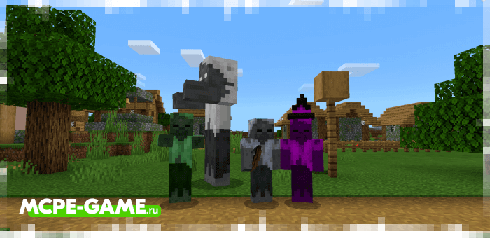Новые зомби из мода More Zombies для Майнкрафт ПЕ