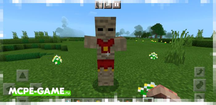 Мумифицированный зомби из мода More Zombies в Майнкрафт