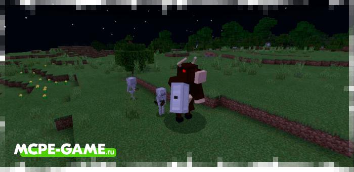Минотавры из мода на мифических существ Mythical Creatures для Minecraft PE
