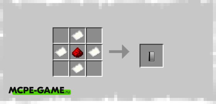 Рецепт крафта ключа доступа к сейфу из мода Personal Safe для Minecraft PE