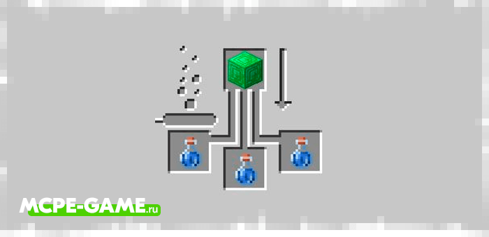 Trading Potion from the Potions Plus mod in Minecraft
