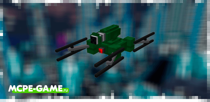 Destroyer drone from the Robotic Revolution robot mod in Minecraft PE