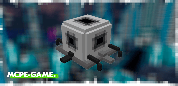 The healing bot from the Robotic Revolution robot mod in Minecraft PE