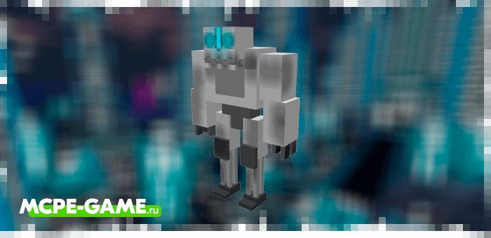 Robot Golem from the Robotic Revolution robot mod in Minecraft PE