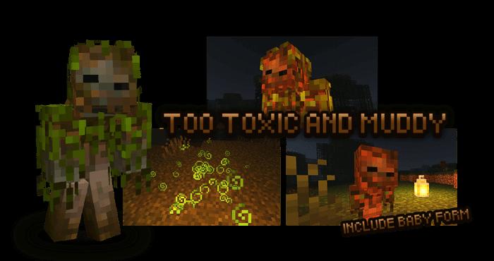 Болотный зомби из мода Rotten Creatures на Майнкрафт ПЕ