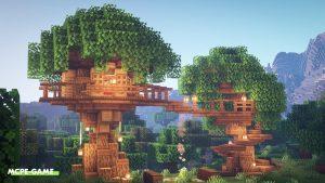 Видео-урок по постройке дома на дереве в Майнкрафт