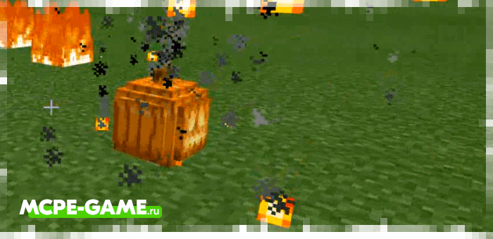 Pumpkin Bombs from the Wizardry mod in Minecraft
