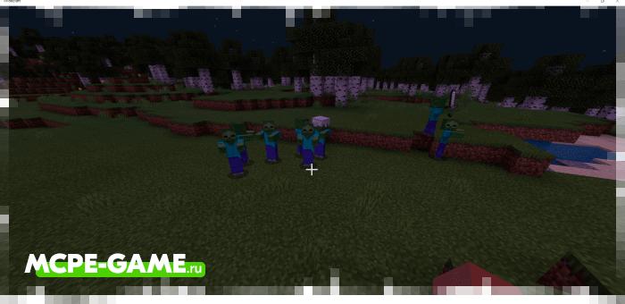 Zombie Blood Moon — Мод на зомби-апокалипсис во время кровавой луны