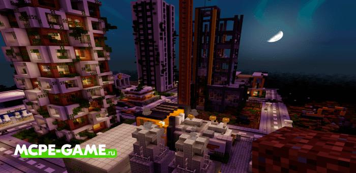 Zombie Apocalypse City — Карта с городом зомби