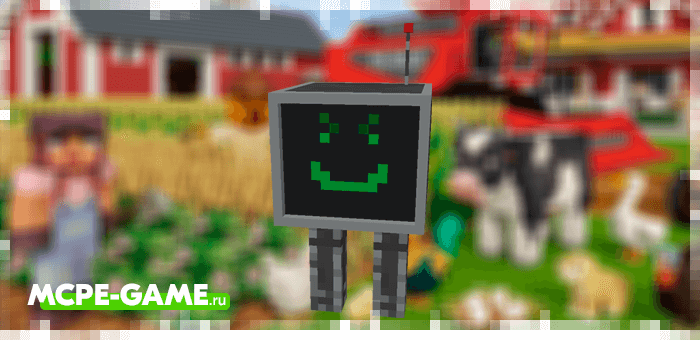 Охранный робот из мода Bot-Topia для Minecraft