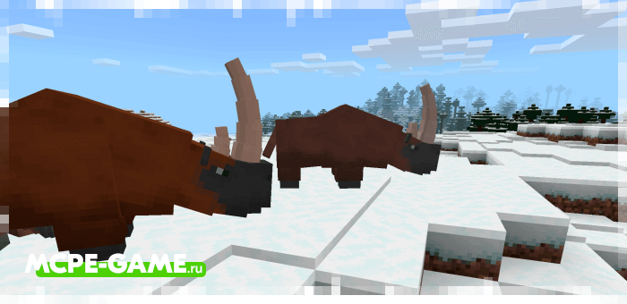 Шерстистый носорог из мода Cenozoic Reborn для Minecraft