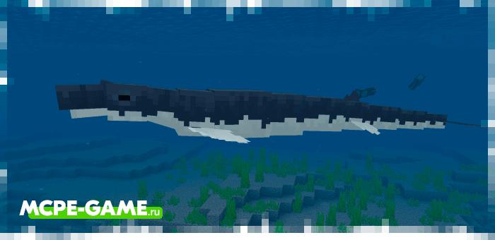 Базилозавр из мода Cenozoic Reborn для Minecraft