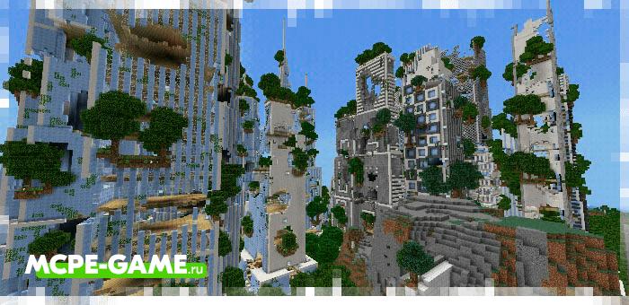 Decimated Futuretroplis — Карта с заброшенным городом будущего