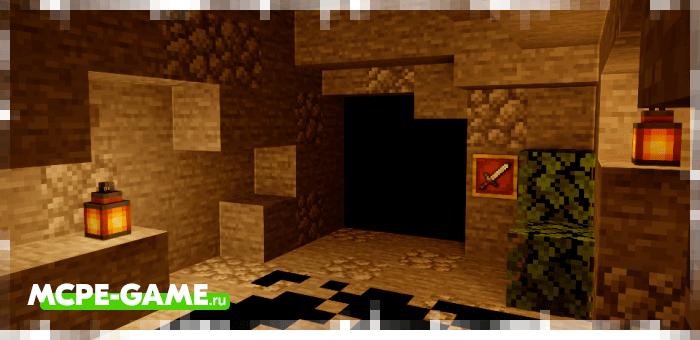 Dungeons — Карта на прохождение в виде пещеры