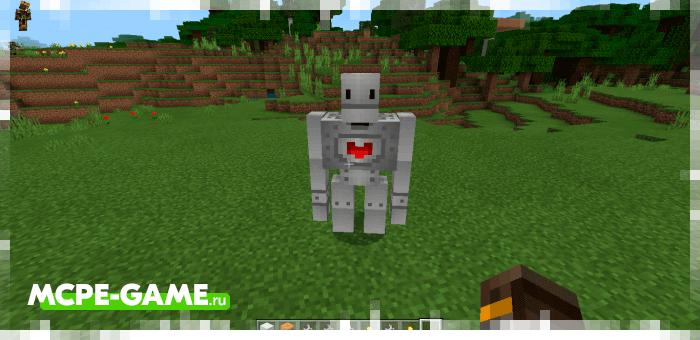 Железный голем из мода Inhumanity для Minecraft