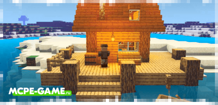 New buildings and houses from Just Structure mod for Minecraft