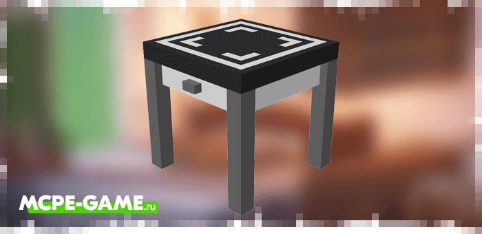 Квадратный стол из мода Kitchen Appliances на Майнкрафт