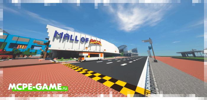 Mall Of Asia — Карта с огромным торговым центром