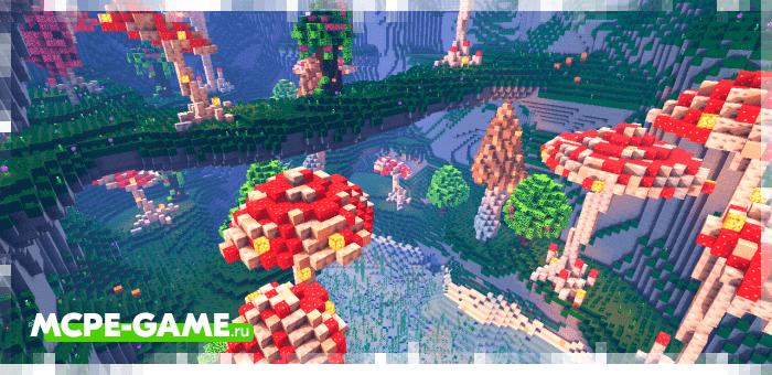 Mushroom Caves — Выживание в волшебных грибных пещерах