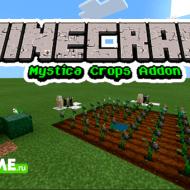 Mystica Crops — Мод на растения с рудами и голема-садовода