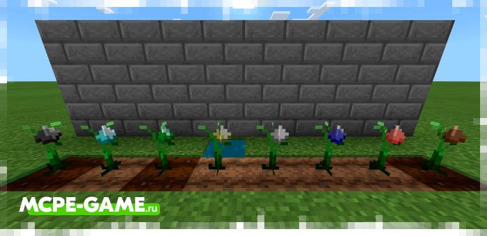 Выращивание руды из мода Mystica Crops на Майнкрафт